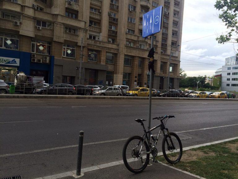 biciclete parcate ilegal